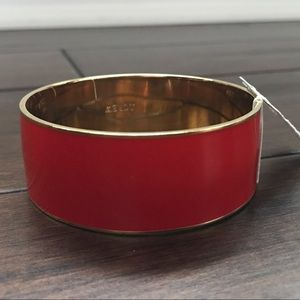 NEW J. Crew Red and Gold Bangle